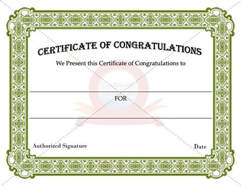 24 best images about congratulation certificate templates
