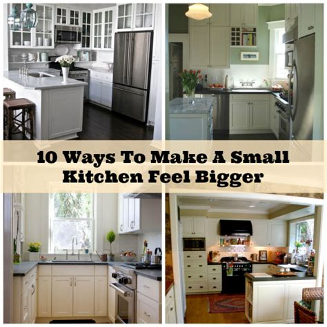 14 easy ways to make a small kitchen look bigger 10 ways to make tiny kitchens feel bigger simple home
