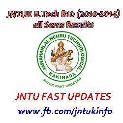 Mba 2014 Results Jntuk by Jntuk B Tech 2010 2014 Batch Results R10 Regularion All