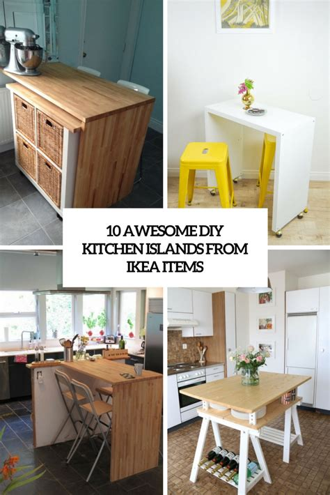 Diy Ikea Kitchen Island 10 Awesome Diy Kitchen Islands From Ikea Items Shelterness