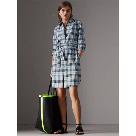 Lace Trim Collar Shirt burberry lace trim collar check cotton shirt dress pale