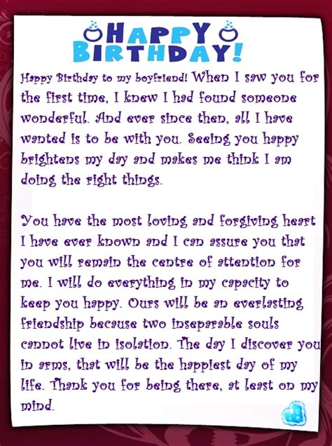 In Birthday Letter A Sweet Happy Birthday Letter To My Boyfriend