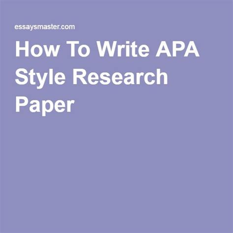 how to write a paper apa style exle the 25 best apa style paper ideas on apa