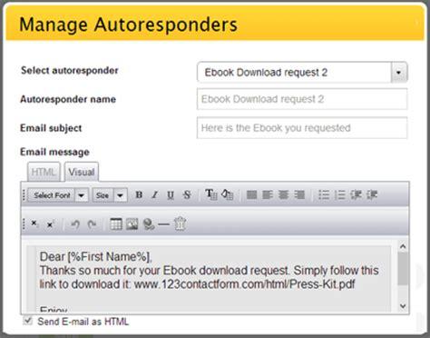 web form autoresponder script email autoresponder html