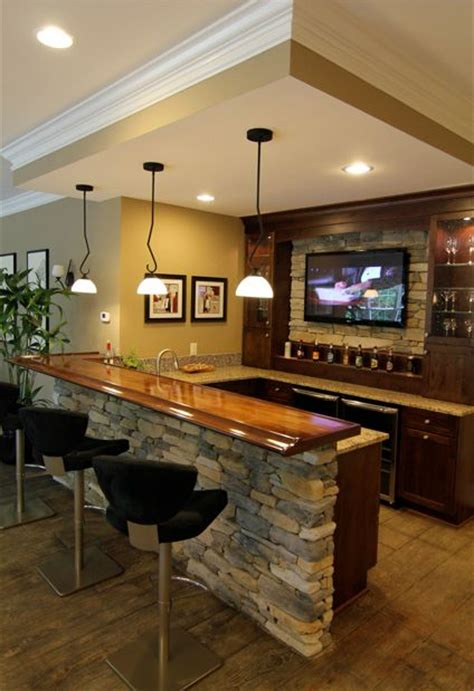 Finished Basement Bar Ideas The Is The Finish To This Basement Bar Complete With A Mounted Flatscreen