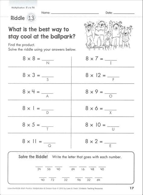 printable math riddles worksheets solve the riddle math worksheets solve best free