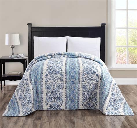 Blue Quilts And Bedspreads Sandisk Medallion Bedspread Blue Multi Home Bed