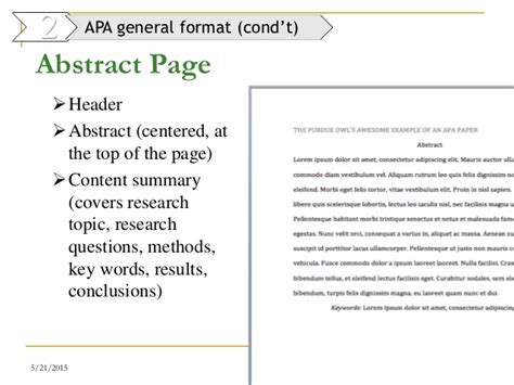 apa abstract page template 9 writing report dr mai 2014