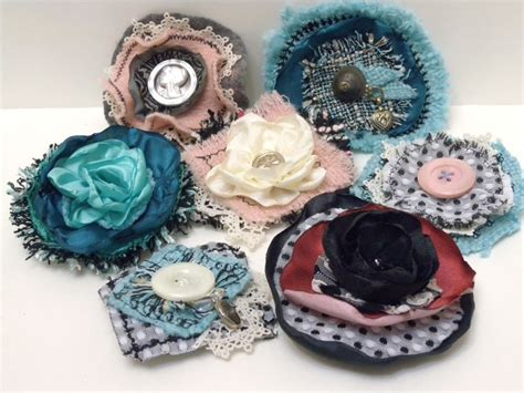 Handmade Fabric Brooches - image gallery handmade fabric brooches