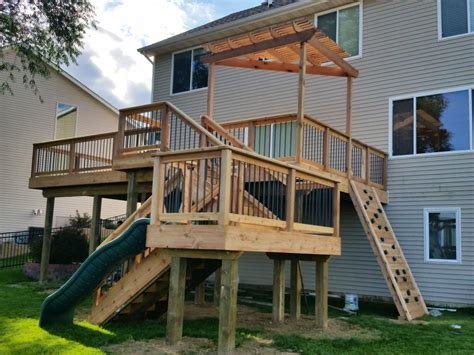 Creative Backyard Playground Ideas 5 Unique Deck Designs And Layouts Gnh Lumber Co