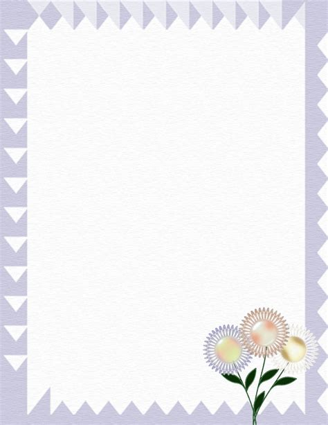 Floral Stationery Theme Free Page 3 Floral Stationery Template