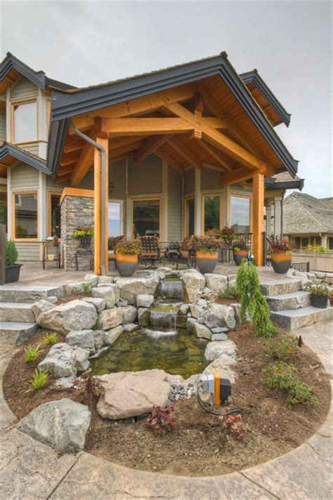 Landscape Timbers Vancouver Timber Frame City Home Traditional Landscape