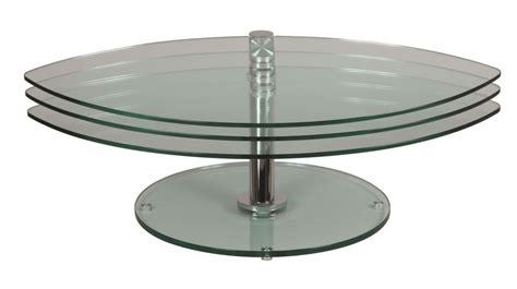 Table Basse 3 Plateaux Pivotants