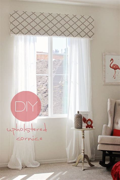 Upholstered Cornice Window Treatments How To Make Your Own Diy Cornice Window Treatment For Less