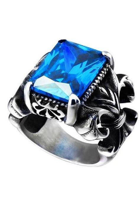Cincin Pria Titanium Steel 316l Quality Green jual cincin pria the crown blue titanium steel ring