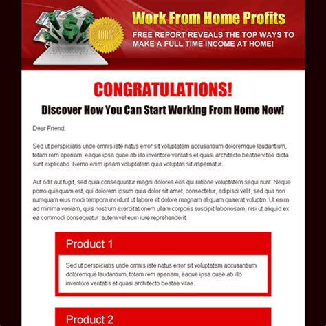 online design work from home sales page landing page design templates for your online