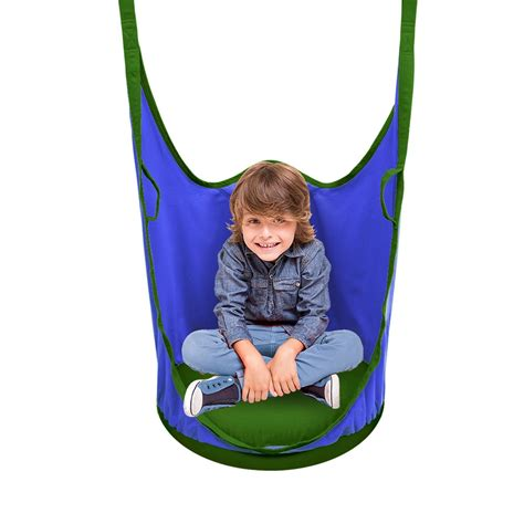 indoor hanging swing chair for kids sorbus kids pod swing chair nook hanging seat hammock