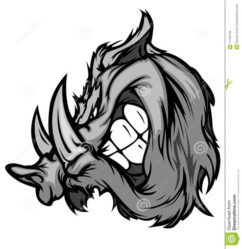 boar razorback mascot vector logo royalty free stock