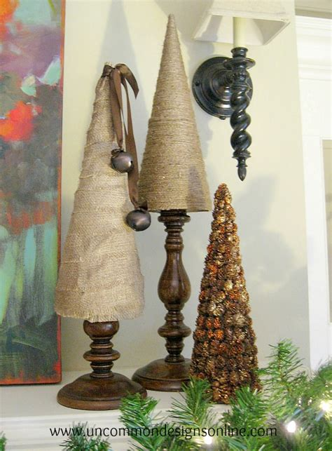 burlap and twine christmas trees uncommon designs
