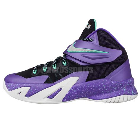 purple youth basketball shoes nike soldier viii gs 8 lebron hornets purple