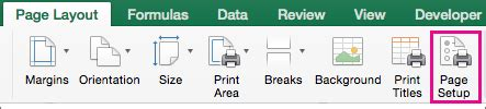 layout excel mac scale the sheet size for printing excel for mac
