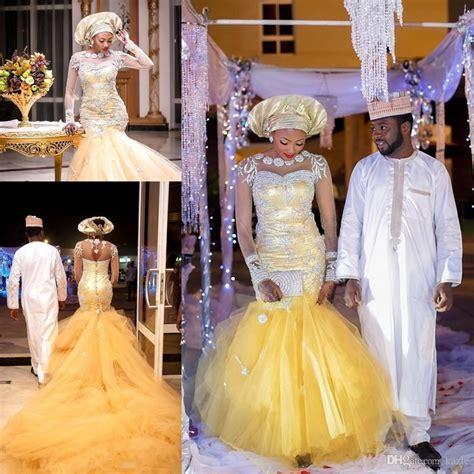 African Traditional Wedding Dresses Nigeria Gold Wedding