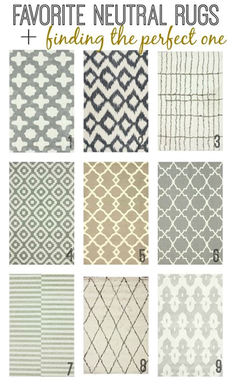 Neutral Kitchen Rugs Favorite Neutral Rugs Finding The One