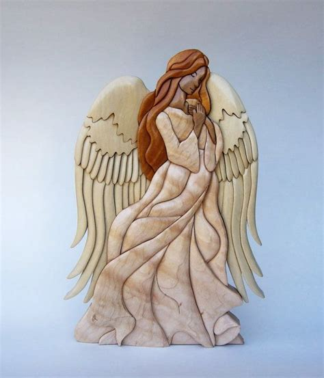 wood pattern for angel herald angel intarsia wall hanging wood carving wall