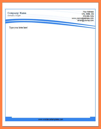 8 Microsoft Business Letterhead Templates Company Letterhead Microsoft Word Letterhead Templates