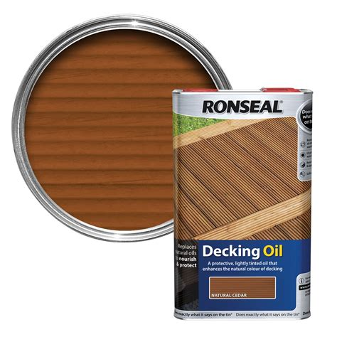 ronseal natural cedar decking oil  departments diy