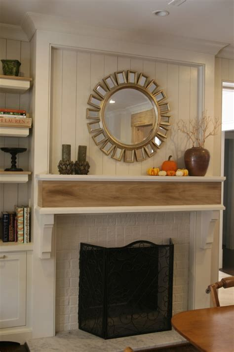 Bookcase Decorating Tips How To Add Wood Trim Above Fireplace Mantle