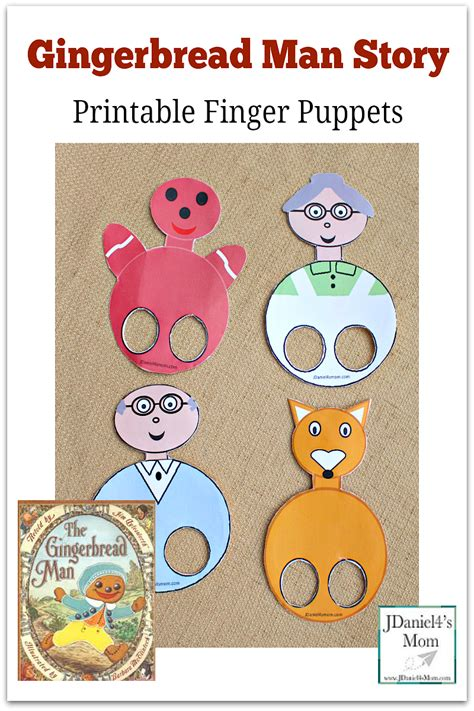 the gingerbread and the leprechaun at school books gingerbread story printable finger puppets