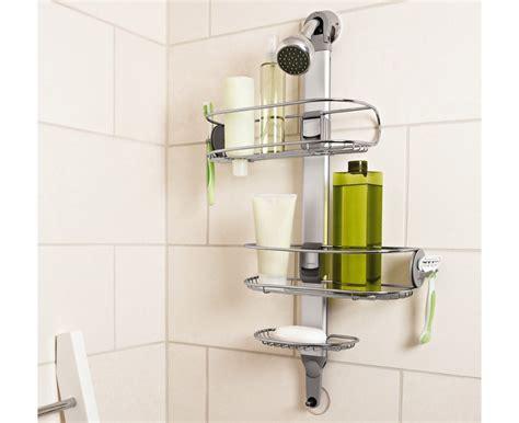 brausestange ohne bohren simplehuman edelstahl duschablage duschcaddy duschkorb