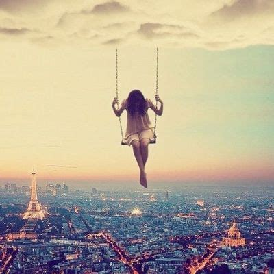 swing cool swing from a cloud sky city girl clouds art swing cool