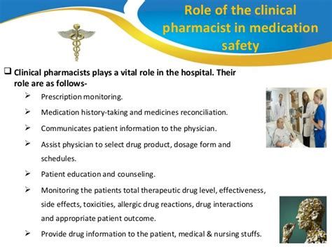 Responsibility Of A Pharmacist by Of The Pharmacist In Medication Safety