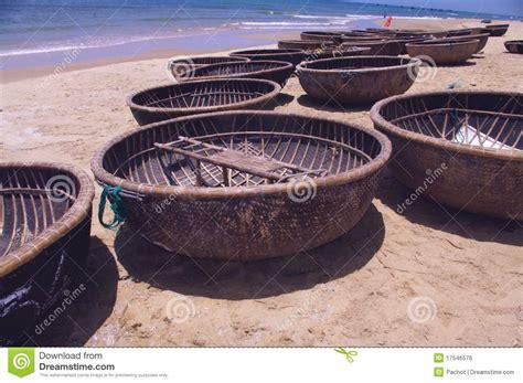 used round boat round basket boat royalty free stock image image 17546576