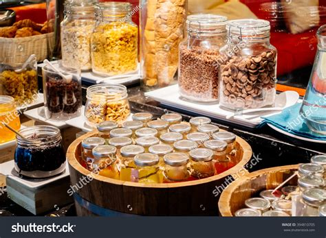 Selective Focus Point On Breakfast Buffet Stock Photo Breakfast Buffet Catering