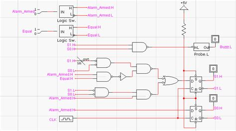 alarm clock circuit diagram