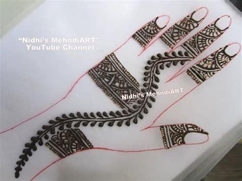 henna design classes simple arabic back hand henna mehndi design tutorial youtube
