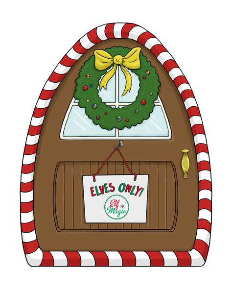 Free Printable Elf Door | elf magic elf door elf magic santa s magic elves elf