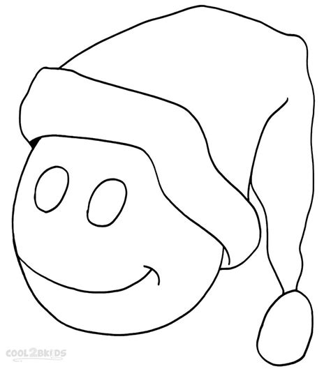 coloring page santa hat printable santa hat coloring pages for kids cool2bkids