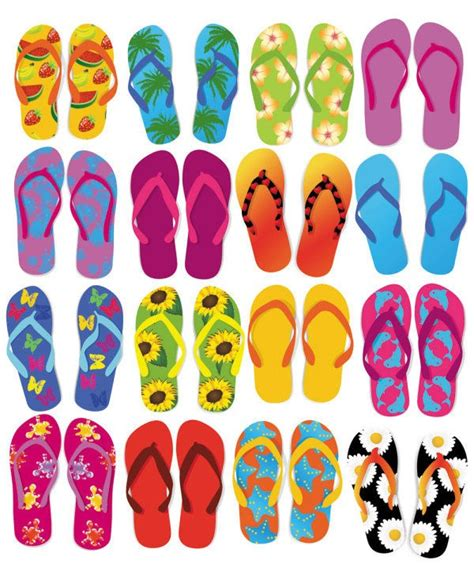 colorful flip flops colorful flip flops vector set free vector graphics