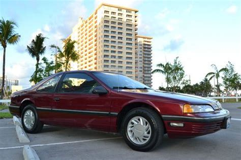 purchase used 1989 ford thunderbird base coupe 2 door 3 8l clean carfax elderly owned and driv