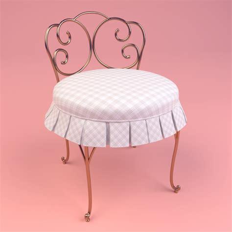 skirted vanity chair 3d skirted vanity chair model