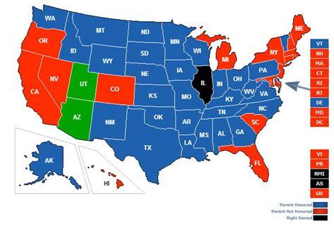 reciprocity map utah ccw reciprocity map swimnova