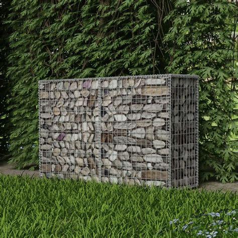 vidaxl gabion basket steel 150x50x100 cm outdoor garden