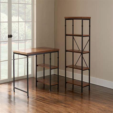 Black Open Bookshelf Home Decorators Collection Industrial Mansard Black Open