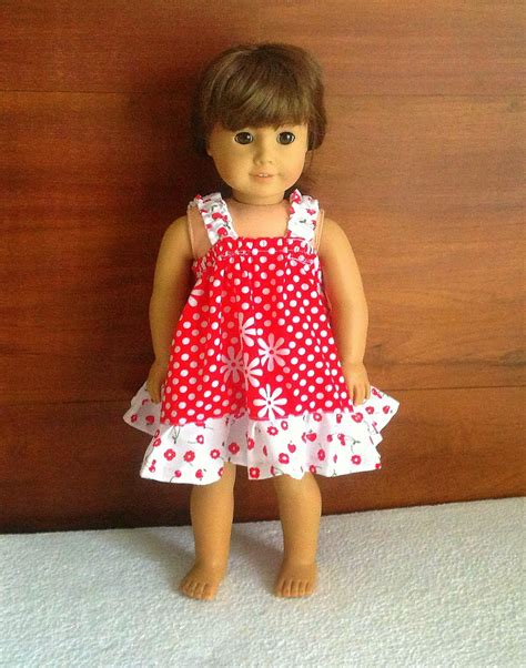 clothes pattern for 18 inch doll easy sundress sewing pattern for american dolls sewing