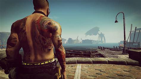 yakuza tattoo liver damage yakuza tattoos male standalone for fo4 mod download