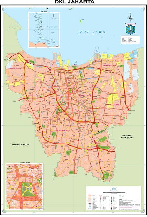 jakarta pusat map peta jakarta saripedia